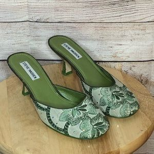 Steve Madden Floral Crystal Beading Mules